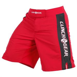 Clinch Gear Pro Series Shorts - Red/Black/White